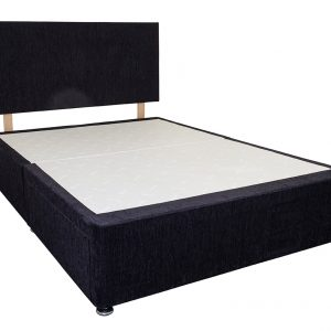 Midnight bed base and headboard