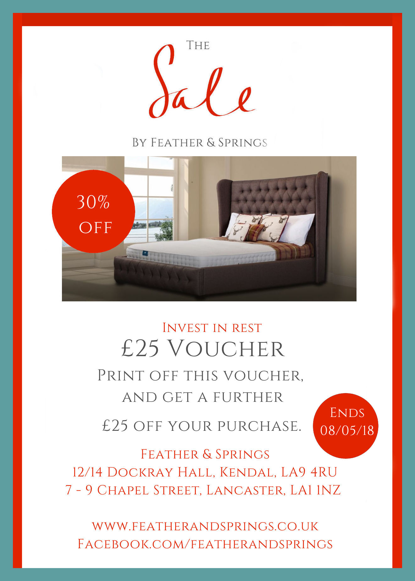 Print off for a further £25 off